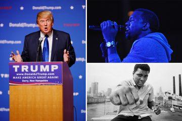 Muhammad Ali, Donald Trump, and Kanye West