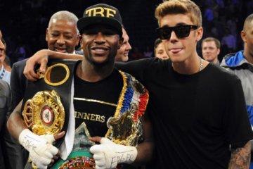 Justin Bieber and Floyd Mayweather