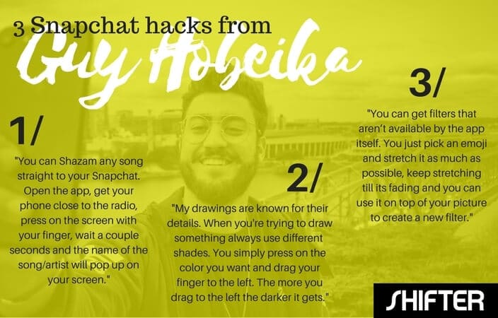 Snapchat artist guy hobeika