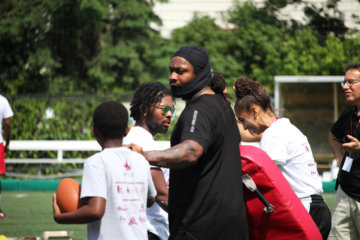 Marshawn Lynch football camp