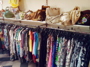 Second-hand clothing in store